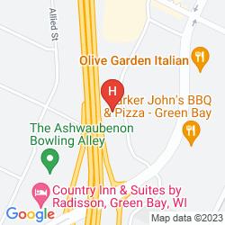 Mapa HAMPTON INN GREEN BAY