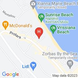 Mapa VRISSIANA BEACH