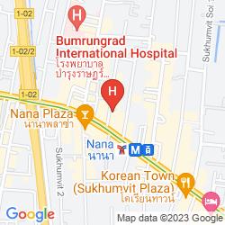 Mapa BOULEVARD HOTEL BANGKOK