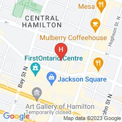 Mapa SHERATON HAMILTON