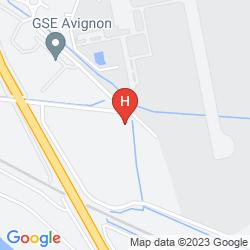 Mapa BEST WESTERN PARADOU AVIGNON