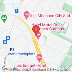 Mapa MOTEL ONE MÜNCHEN CITY SÜD