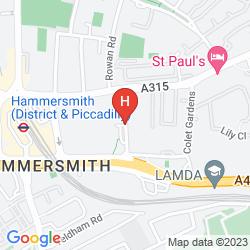 Mapa NOVOTEL LONDON WEST