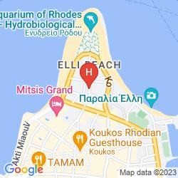 Mapa ACHILLION HOTEL