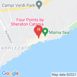 Mapa FOUR POINTS BY SHERATON CATANIA HOTEL & CONFERENCE CENTER