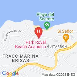 Mapa PARK ROYAL ACAPULCO ALL INCLUSIVE