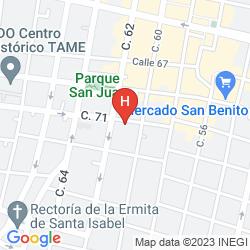 Mapa HOTEL MARIONETAS