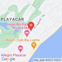 Mappa THE REEF PLAYACAR ALL INCLUSIVE