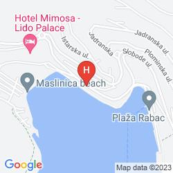 Mappa ADORAL HOTEL APARTMENTS