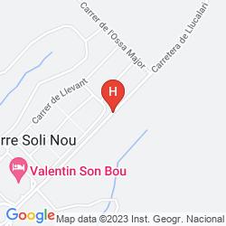 Mappa VILLAS MENORCA SUR