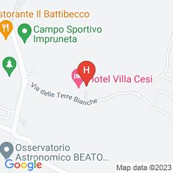 Mappa HOTEL VILLA CESI