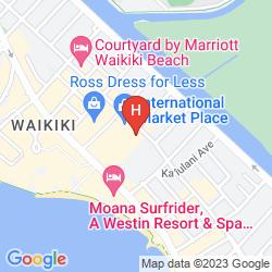 Mappa ASTON WAIKIKI CIRCLE HOTEL