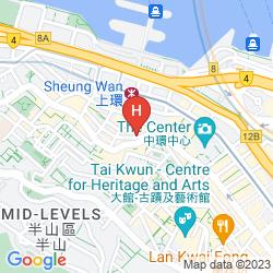 Mappa CITADINES MERCER HONG KONG