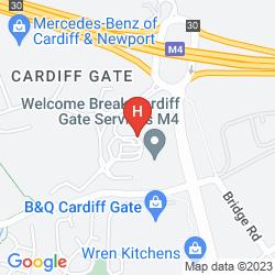Mappa IBIS CARDIFF GATE