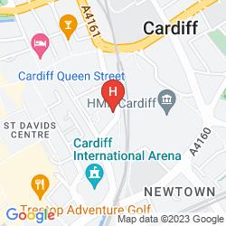 Mappa PREMIER INN CARDIFF CITY CENTRE
