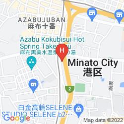 Mappa OLYMPIC INN AZABU