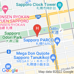 Mappa HOTEL RESOL TRINITY SAPPORO