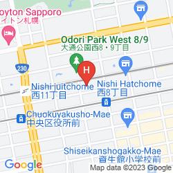 Mappa TOKYODOME HOTEL SAPPORO