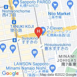Mappa APA HOTEL SAPPORO SUSUKINO EKIMAE