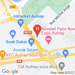 Mappa NOVOTEL PARIS NORD EXPO AULNAY