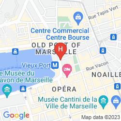 Mappa GRAND TONIC HOTEL MARSEILLE