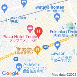 Mappa PLAZA HOTEL TENJIN
