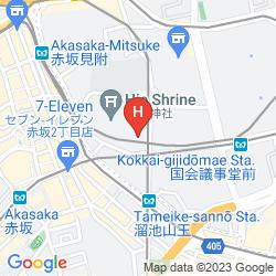 Mappa THE CAPITOL HOTEL TOKYU