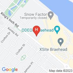 Mappa TRAVELODGE GLASGOW BRAEHEAD