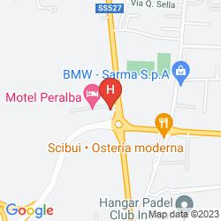 Mappa MOTEL PERALBA