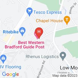 Mappa BEST WESTERN GUIDE POST HOTEL