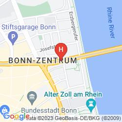 Mappa HILTON BONN