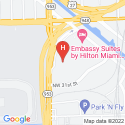 Mappa RED ROOF PLUS MIAMI AIRPORT
