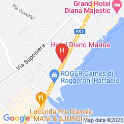 Mappa HOTEL SILVANO
