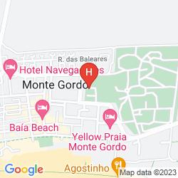 Mappa MONTE GORDO HOTEL APARTAMENTOS & SPA