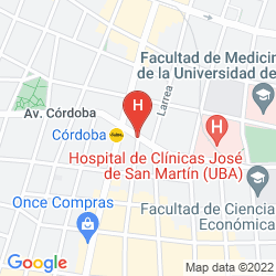 Mappa APART HOTEL CORDOBA 860 BUENOS AIRES SUITES