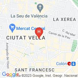 Mappa LIVING VALENCIA APARTMENTS-EDIFICIO VITORIA