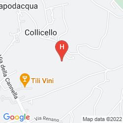 Mappa AGRITURISMO VILLA VAL D'OLIVI