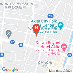 Mappa PEARL CITY HOTEL OMACHI