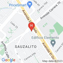 Mappa HOLIDAY INN BOGOTA AIRPORT