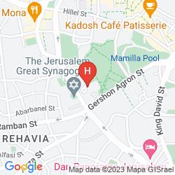 Mappa LEONARDO PLAZA JERUSALEM