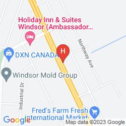Mappa HOLIDAY INN & SUITES WINDSOR AMBASSADOR BRIDGE