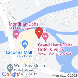 Mappa GRAND HYATT DOHA