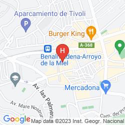 Mappa HOSTAL SOL Y MIEL