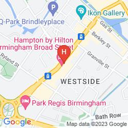 Mappa HAMPTON BY HILTON BIRMINGHAM BROAD STREET