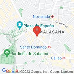 Mappa SENATOR GRAN VIA 70 SPA