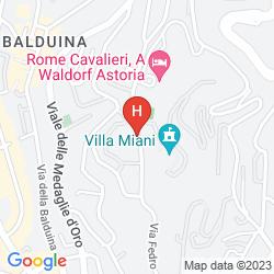 Mappa ROME CAVALIERI, WALDORF ASTORIA HOTELS & RESORTS