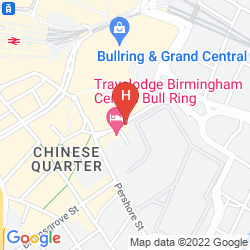 Mappa TRAVELODGE BIRMINGHAM CENTRAL BULL RING HOTEL