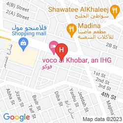 Mappa CROWNE PLAZA AL KHOBAR