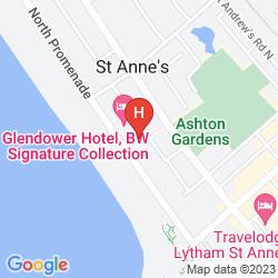 Mappa BEST WESTERN GLENDOWER