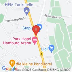 Mappa PARK HOTEL HAMBURG ARENA